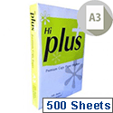 Hi Plus A3 75gsm White Multifunctional Copier Paper Ream of 500 Sheets
