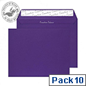 Creative Colour Wallet Peel and Seal Blackcurrant C4 229x324mm 120gsm Ref 63447 [Pack 10]