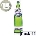 Highland Spring Sparkling Mineral Water 1L Glass Bottes Ref 390009 Pack 12