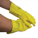 Multi Purpose Yellow Rubber Gloves Medium Pair
