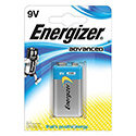 Energizer Advanced (9V) Alkaline Battery (Pack of 1 Battery)