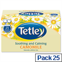 Tetley Camomile Easy Squeeze Tea Bags Envelope Pack 25
