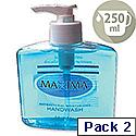 Maxima Hand Wash Liquid Soap Anti-Bacterial 250ml Ref VCWMAS Pack 2 128857