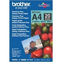 Brother A4 Glossy Premium Plus Photo Paper (Pack of 20)