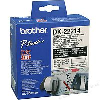 Brother P-touch DK-22214 12mm x 30.48m Continuous Paper Tape for Ql-500/550