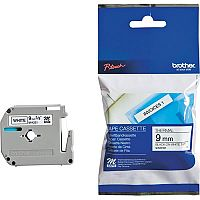 Brother P-touch M-K221BZ 9mm x 8m Black On White Plastic Labelling Tape