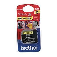 Brother P-touch M-K621BZ 9mm x 8m Black on Yellow Non Laminated Labelling Tape