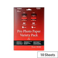Canon Variety Pack A4 Photo Paper Kit (Pack of 10)
