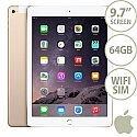 Apple iPad Air 2 64GB WiFi + Cellular iOS 8.0 Gold SIM Included