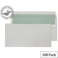 Purely Environmental Natural White DL Wallet Self Seal Envelopes (Pack of 500)