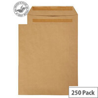 Purely Everyday Manilla 90gsm Self Seal Pocket C4 324x229mm (Pack of 250)