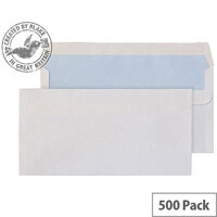 Purely Everyday White DL Wallet Self Seal Envelopes (Pack of 500)