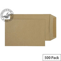 Purely Everyday Manilla Gummed Pocket C5 229x162mm (Pack of 500)