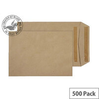 Purely Everyday Manilla Self Seal Pocket C5 229x162mm (Pack of 500)