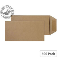 Purely Everyday Manilla DL Pocket Self Seal Envelopes (Pack of 500)