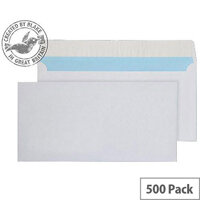 Purely Everyday White DL Wallet Peel and Seal Envelopes (Pack of 500)
