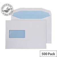 Purely Everyday Mailer Gummed Window White 90gsm C5 162x229mm (Pack of 500)