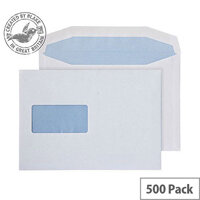 Purely Everyday Mailer Gummed Window White 90gsm C5+ 162x238mm (Pack of 500)