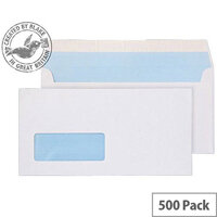Purely Everyday DL White Wallet Window Envelopes (Pack of 500)