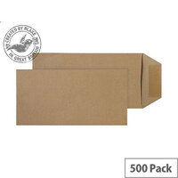 Purely Everyday Manilla DL+ Pocket Self Seal Envelopes (Pack of 500)