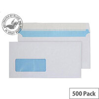Purely Everyday White DL Wallet Low Window Envelopes (Pack of 500)