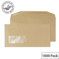 Purely Everyday Mailer Manilla DL Gummed Window Envelopes (Pack of 1000)