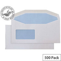 Purely Everyday Mailer DL+ White Gummed Reverse Window Envelopes (Pack of 500)