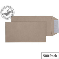 Purely Everyday Manilla DL Pocket Peel and Seal Envelopes (Pack of 500)