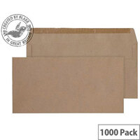 Purely Everyday DL Manilla Self Seal Wallet Envelopes (Pack of 1000)