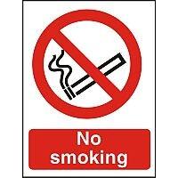 Prestige Acrylc Safety Sign 2mm Doublesided Backing 150x200 No Smoking