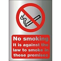 Prestige Sign 2mm 150x210 Against The Law To Smoke Premises