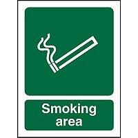 Prestige Acrylic Safety Sign 2mm 150x200 Smoking Area