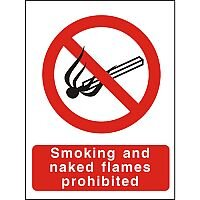 Prohibition Signs 300x400 Smoking and Naked Flames Prohibited