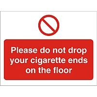 Prohibition Signs 300x400 Do Not Drop Cigarette Ends on Floor