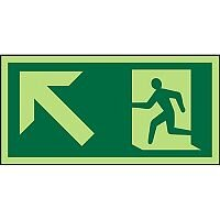 Photoluminescent Exit Sign 2mm Wheelchair Pictogram /Man Run &  Up Left Arrow PVC