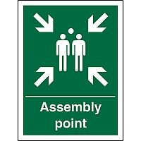 Safe Procedure Sign 300x400 1mm Plastic Assembly Point