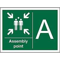 Safe Procedure Sign 400x300 1mm Plastic Assembly Point A