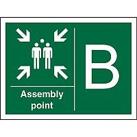 Safe Procedure Sign 400x300 1mm Plastic Assembly Point B Self Adhesive Vinyl