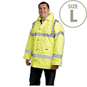 Dealer Workwear Yellow Hi Vis Coat Polyester with Waterproof Coating Large DWHCYL