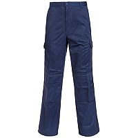 Supertouch Combat Trousers Polyester Cotton Multiple Velcro Pockets Tall Navy 32inch Ref 18KN3