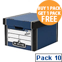 Fellowes Bankers Box Premium 725 Classic Archive Storage Box Blue Pack 10 Buy 1 Get 1 Free