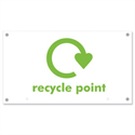 Recycling point sign