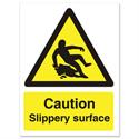 Stewart Superior Caution Slippery Surface Sign Self Adhesive Vinyl 150x200mm