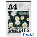 Silvine Premium A4 Refill Pad Perforated Punched 120pp Pack5