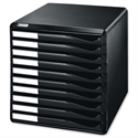 Desktop Filing Unit Black A4 10 Drawers Leitz