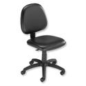 Medium Back Operator Office Chair Black Vinyl Trexus