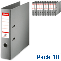 Esselte Grey Lever Arch File A4 Pack 10