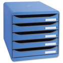 Ice Blue Filing Drawer Set Plastic A4+ 5 Drawers Each Multiform