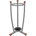 Umbrella Stand Removable Drip Tray Metal Finish Wood Trim 15 Umbrellas 1.1kg