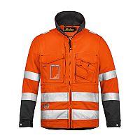 Snickers 1633 High-Vis Jacket Orange Class 3 Size XS Regular